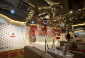 Restaurant with 3D ceiling