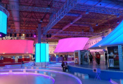 Exhibition with 3D stretch ceiling