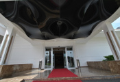 Reception with 3D ceiling
