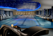 Wellness center with 3D ceiling