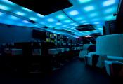 Night club blue stretch ceiling