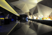 Nightclub with beautiful 3D ceiling
