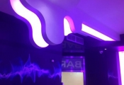 Night bar with 3D ceiling