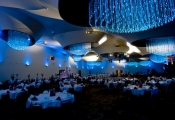 Banquet hall with 3D ceiling