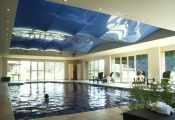 Wellness with stretch ceiling