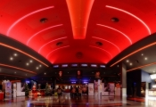 3D ceiling inside theater