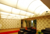 Wavy translucent ceilings