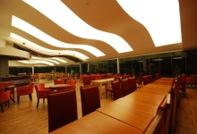 Banquet Hall with acoustic ceiling