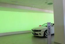 Car dealership backlit wall