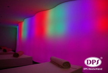 Club with backlit wall