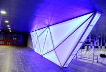 3D shaped backlit wall