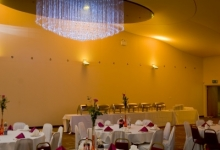 Installled stretch banquet hall ceiling
