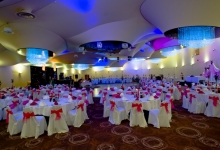 3D ceiling inside banquet hall
