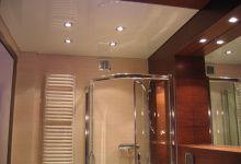 Bathroom with suspended ceiling