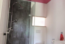 Installed high gloss bath ceiling