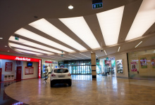 Car seller stretch ceiling