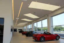 Installed ceiling in car dealership