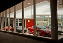 Car dealer with stretch ceiling