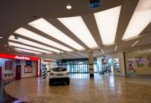 Car seller stretch ceiling