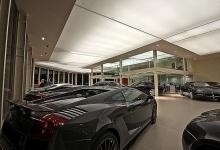 Car shop installed translucent ceiling