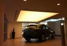 Translucent car dealership ceiling
