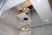 Mirror stretch ceiling