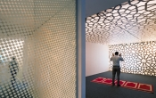 Expo with printed ceiling and walls