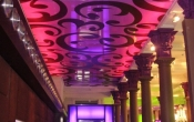 Night club with ceiling print