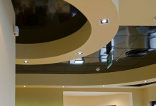 Ceiling tiles black high gloss