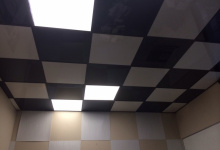 Translucent and high gloss ceiling tiles