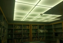 Translucent ceiling tiles