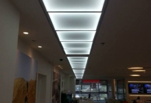 Luminous translucent ceiling tiles
