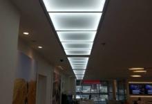Luminous translucent ceiling tiles