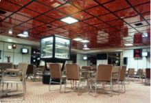High gloss ceiling tiles