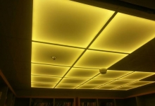 Yellow translucent ceiling tiles