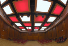 translucent ceiling in conference hall