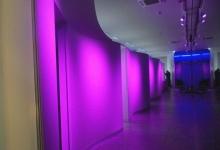 Translucent wavy decorative wall