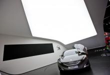 Translucent ceiling in exhibition