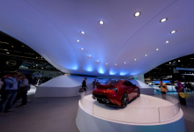 Exhibition with stretch ceiling