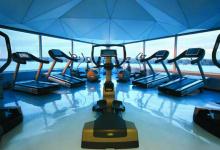 Gym with stretch ceiling