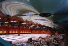 3D wavy ceiling inside gym