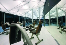 Workout center with 3D ceiling