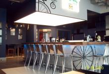 Stretch ceiling in hotel bars