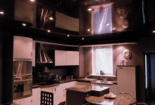 High gloss kitchen ceiling
