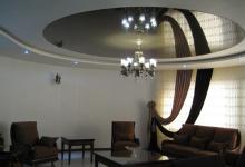 Living room high gloss ceiling