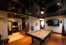 High gloss living room ceiling