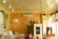 Suspended ceiling in living room