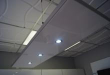 Installed modular ceiling panel