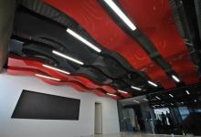 Wavy modular ceiling panels