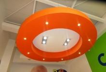 Circular modular ceiling panel